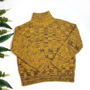 Missguided mustard yellow turtleneck sweater Sm 4